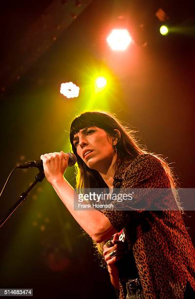 French singer Lou Doillon performs live during a concert at the Postbahnhof on March 10 2016 in Berlin Germany