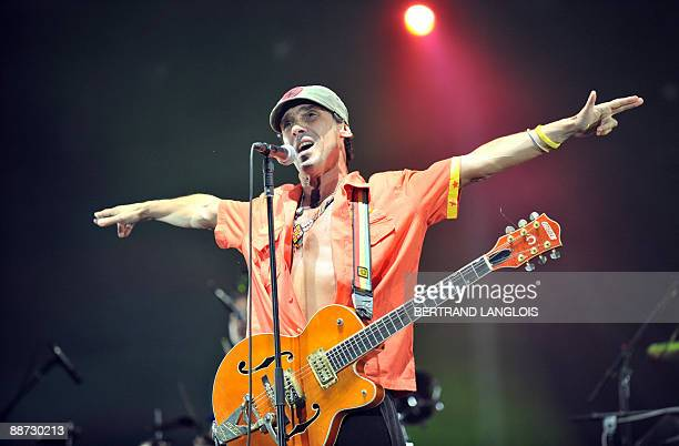 French singer Manu Chao performs during the Solidays music festival on June 28, 2009 at Paris� Longchamp racetrack. The name Solidays, an amalgam of...
