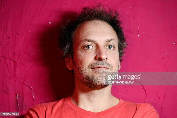 French singer Mathieu Boogaerts poses on February 11 in Paris. Mathieu Boogaerts will play at the Philharmonie de Paris for his 20 years of career on...