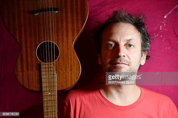 French singer Mathieu Boogaerts poses on February 11 in Paris Mathieu Boogaerts will play at the Philharmonie de Paris for his 20 years of career on...