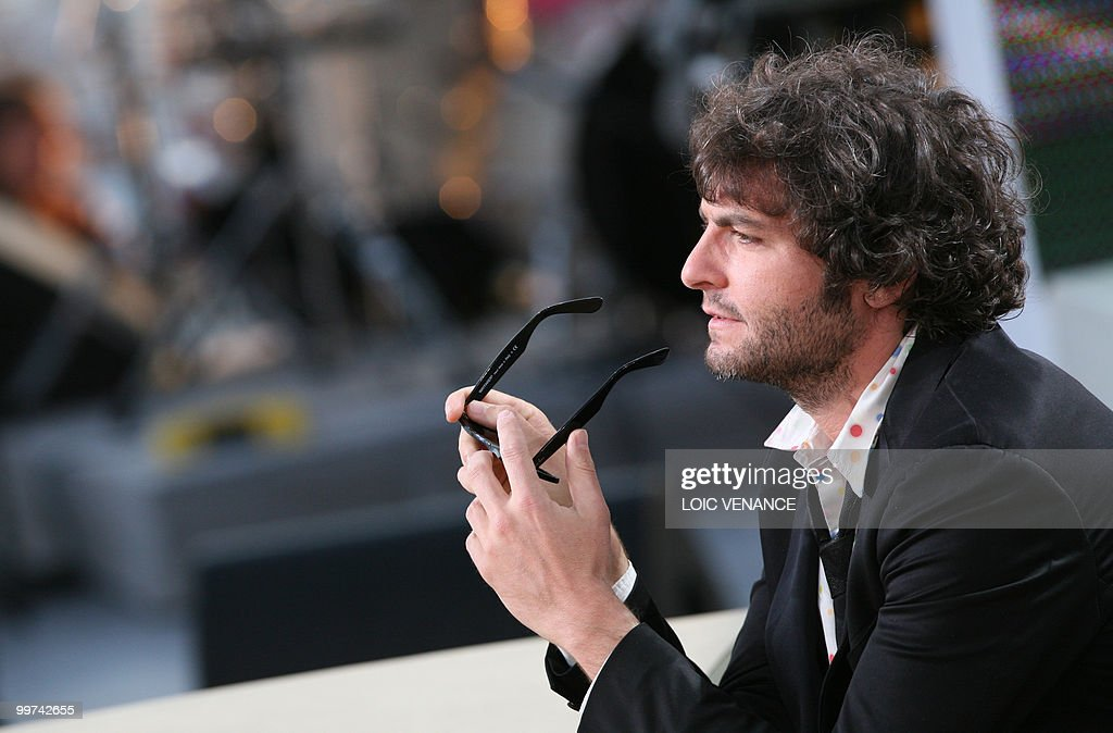French singer Matthieu Chedid also known as 'M' attends the Canal+ TV show 'Le Grand Journal' at the 63rd Cannes Film Festival on May 17, 2010 in Cannes.