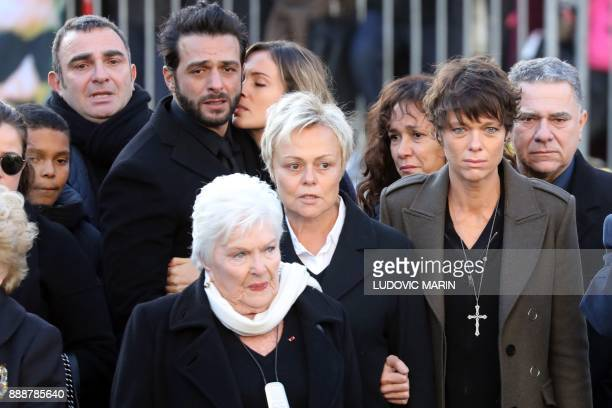 French singer Maxim Nucci aka Yodelice French singer Line Renaud French actress and humorist Muriel Robin and her partner French actress Anne Le Nen...