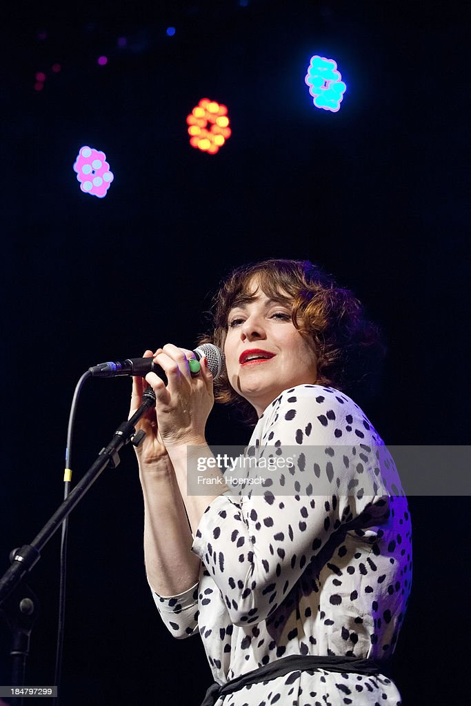 French singer Melanie Pain performs live during a concert at