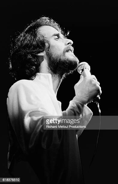 French singer Michel Fugain performs on stage during a concert at the Olympia concert hall Fugain was a popular singer who performed with the band...