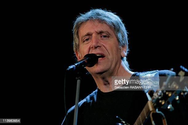French singer Michel Jonasz performs at the 20th Chorus des Hauts de Seine festival In Saint Cloud France On April 03 2008French singer Yves Duteil...