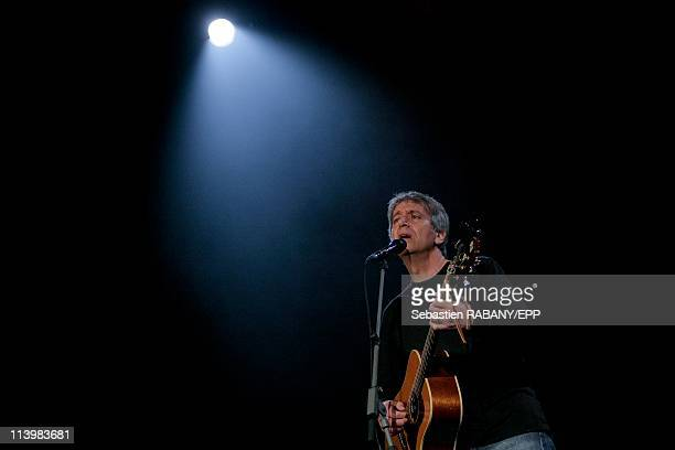 "French singer, Michel Jonasz performs at the 20th ""Chorus des Hauts de Seine"" festival In Saint Cloud, France On April 03, 2008-French singer Yves..."