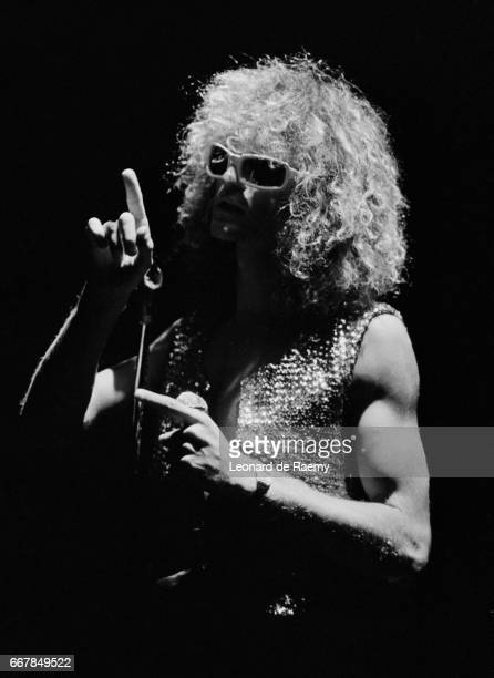 French singer Michel Polnareff on stage in Brussels