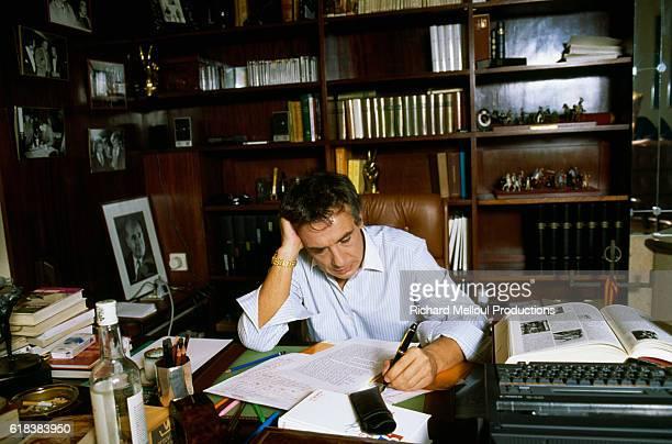 French Singer Michel Sardou at Home