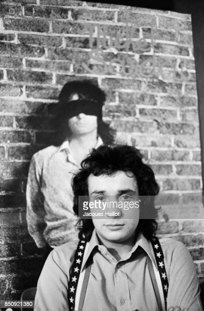 French singer Michel Sardou backstage before a show