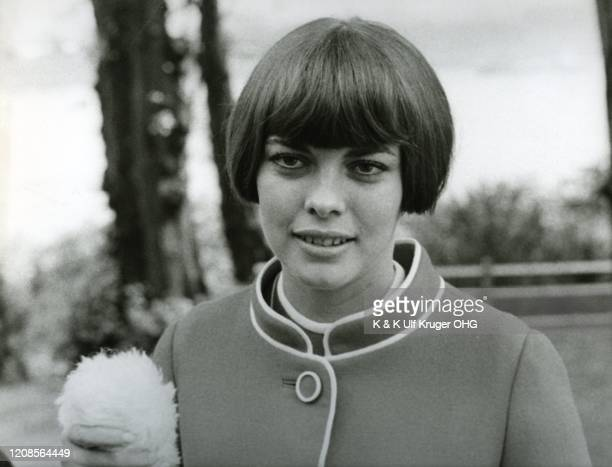 French singer Mireille Mathieu, Germany, circa 1965.