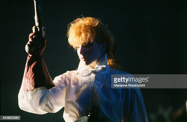 French singer Mylene Farmer during her first live concert in SaintEtienne