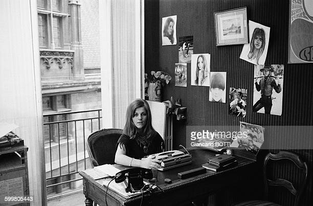 French Singer Nicoletta At Home In Paris France In January 1970