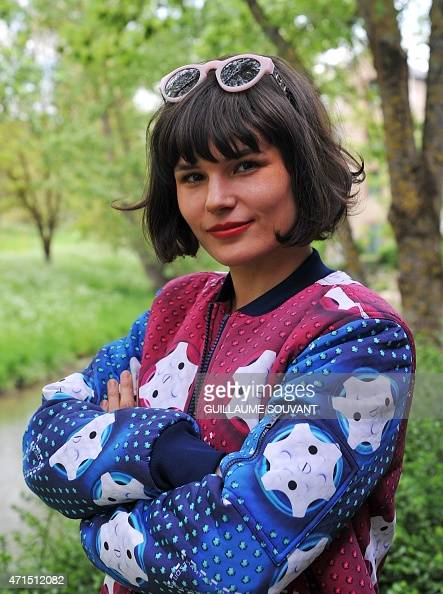 french singer olivia merilathi of the band  u0026quot the do u0026quot  poses after press    news photo