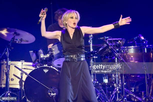 French singer Patricia Kaas performs live during a concert at the Tempodrom on April 4 2017 in Berlin Germany