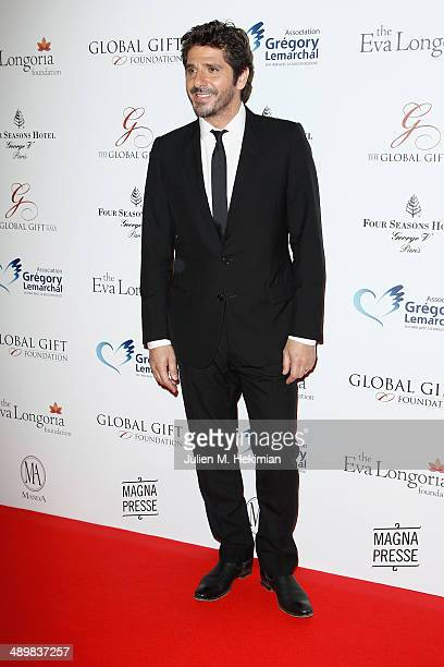 French singer Patrick Fiori attends the 'Global Gift Gala' 2014 Charity Dinner At The Four Seasons Hotel George V on May 12 2014 in Paris France