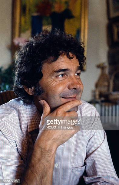 French singer Pierre Perret at home in Seine et Marne, near Paris.