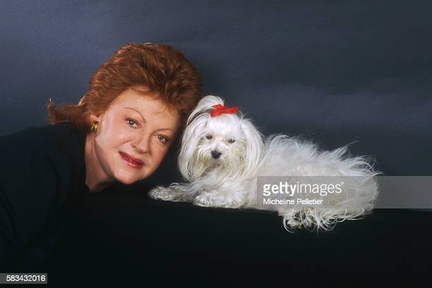 French Singer Regine with Her Dog