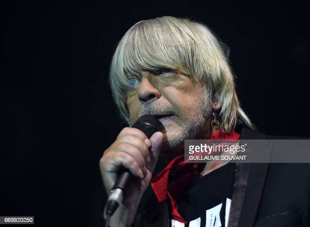 French singer Renaud Sechan performs at the 41th edition of Le Printemps de Bourges rock and pop music festival in Bourges on april 18 2017
