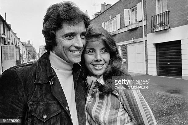 French singer Sacha Distel and his wife Francine Breaud in London where Distel is performing at the Palladium for a threeweek run