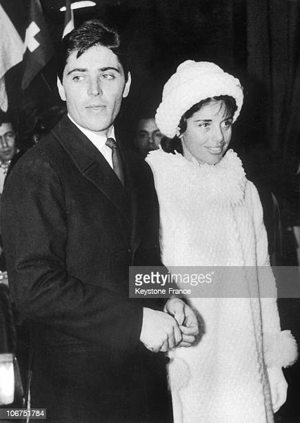 French Singer Sacha Distel Married The Skiier Francine Breaud In Megeve On January 25 1963