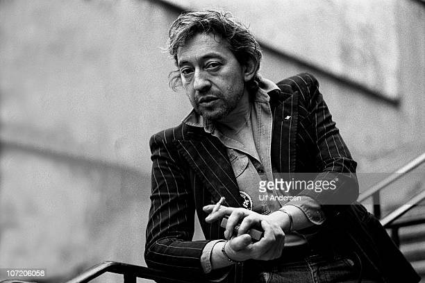 PARIS FRANCE APRIL 18 French singer Serge Gainsbourg poses during portrait session held on April 18 1980 in Paris France