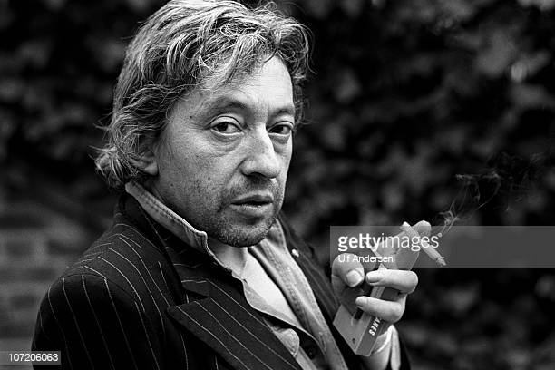 French singer Serge Gainsbourg poses during portrait session held on April 18, 1980 in Paris, France.