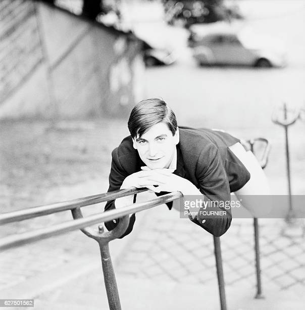 French Singer Serge Lama on Stair Rail May 1965