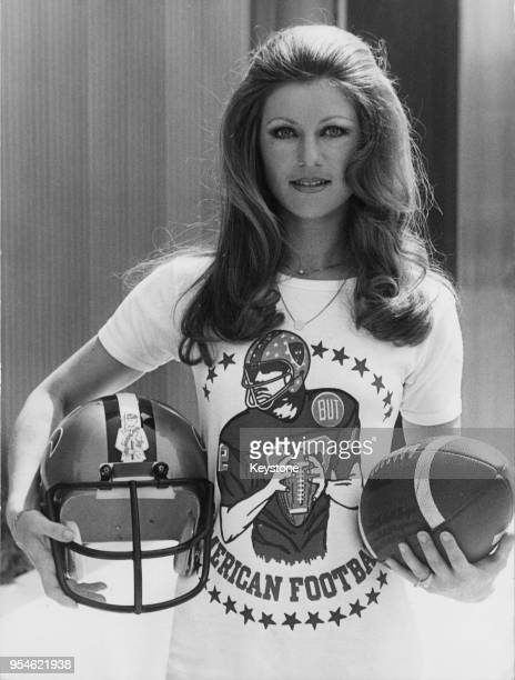 French singer Sheila born Annie Chancel dressed for an American Football tournament in Paris France 8th June 1976