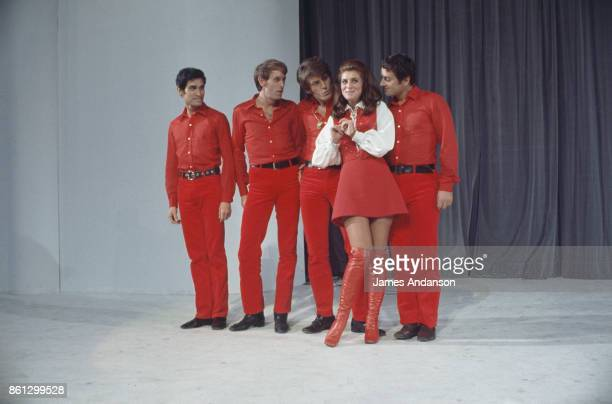 French singer Sheila performs on TV Paris 9th October 1968