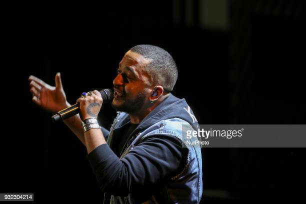 French singer Slimane takes part in the gala celebrating the 100th anniversary of the creation of the French League against cancer in the Cité des...
