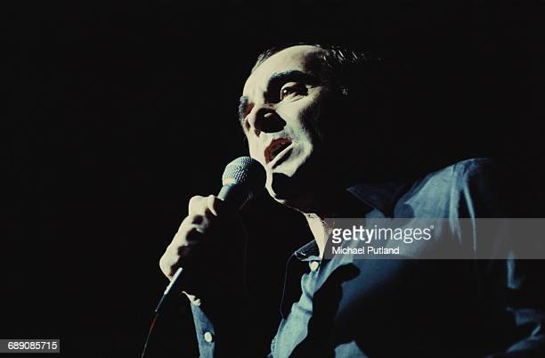 French singer songwriter and actor Charles Aznavour performing on stage 1974