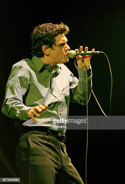 French singer songwriter and actor Marc Lavoine in concert in Lille