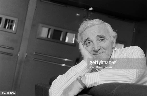 French singer songwriter and actor of Armenians origins Charles Aznavour