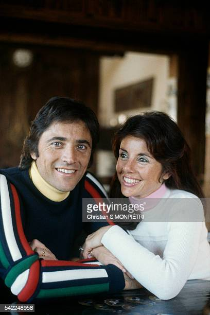 French singer songwriter and jazz guitarist Sacha Distel and his wife alpine ski racer Francine Bréaud