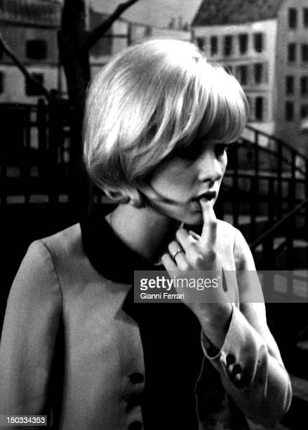French singer Sylvie Vartan in the Spanish TV program 'Gran Parada' 14th September 1968 Madrid Spain