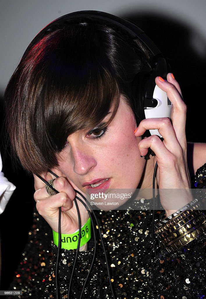 French singer Yelle performs at Down & Derby Roller-Disco inside the Rain Nightclub on April 22, 2010 in Las Vegas, Nevada.