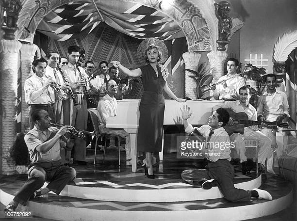 French SingerActress Suzy Delair In A Scene Of The FrenchItalian Film Escapade In 1950 This Film Directed By Leo Joannon Also Features American...