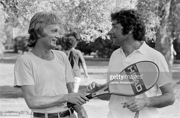 French singers Claude François and Pierre Perret in Morocco, 01st May 1977