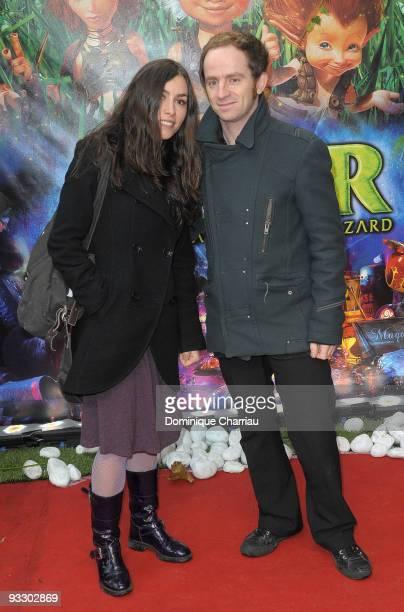 "French singers Olivia Ruiz and Mathias Malzieu attend the Paris premiere of ""Arthur and the Revenge of Maltazard"" at Cinema Gaumont Marignan on..."