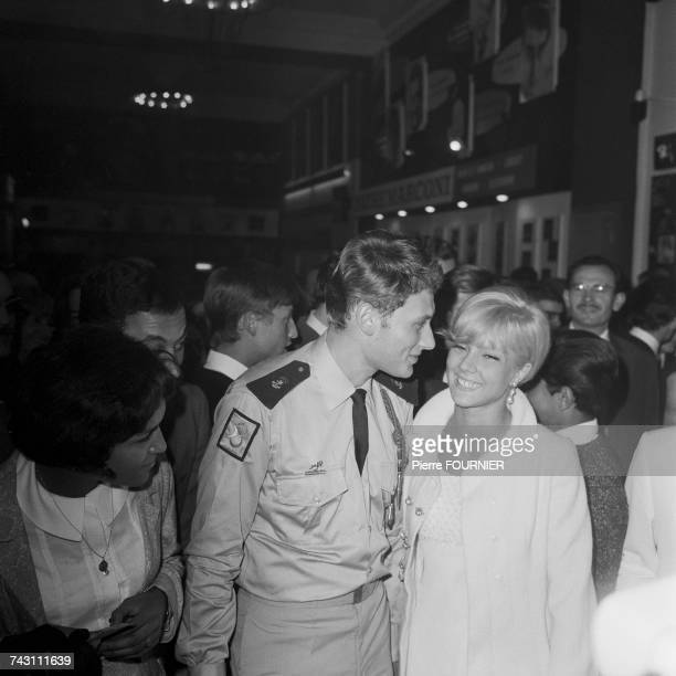 French singers Sylvie Vartan and Johnny Hallyday attend a Dalida and Claude Nougaro concert at the Olympia Hall in Paris 3rd September 1964