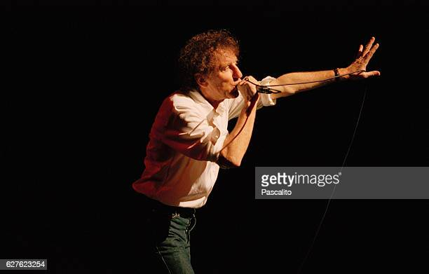 French singersongwriter Alain Souchon in concert in Lille