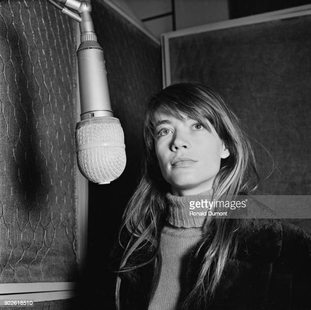 French singer-songwriter Francoise Hardy, UK, 14th April 1968.