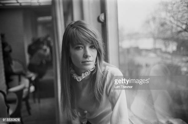 French singer-songwriter Francoise Hardy, UK, 9th February 1968.