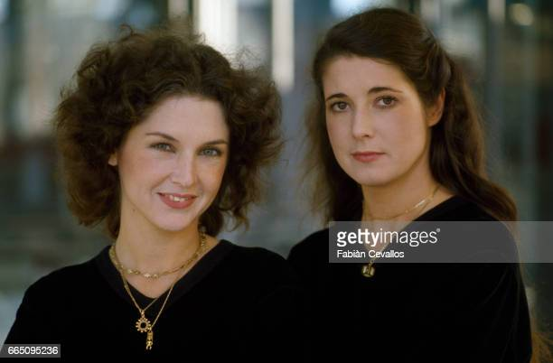 French Sisters and Pianists Katia and Marielle Labeque in Rome