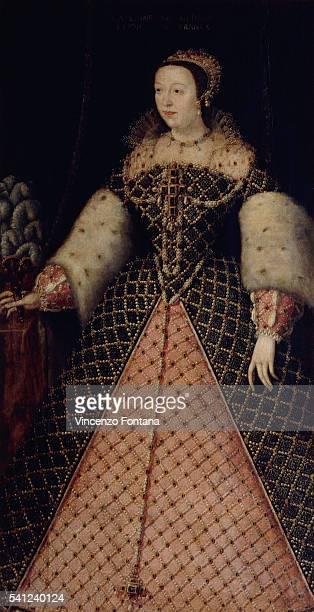 French Sixteenth Century Painting of Portrait of Catherine de'Medici