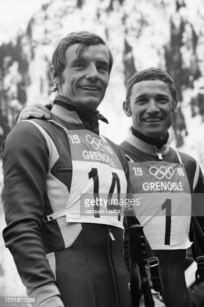 French skier JeanClaude Killy is a triple Olympic champion winning the three alpine events at the 1968 Winter Olympics and Guy Perillat wins the...