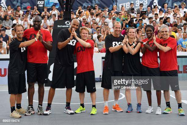 French skipper Thomas Coville former French Taekwondo Olympic champion Pascal Gentil French basketball player Karim Souchu French skipper Francois...