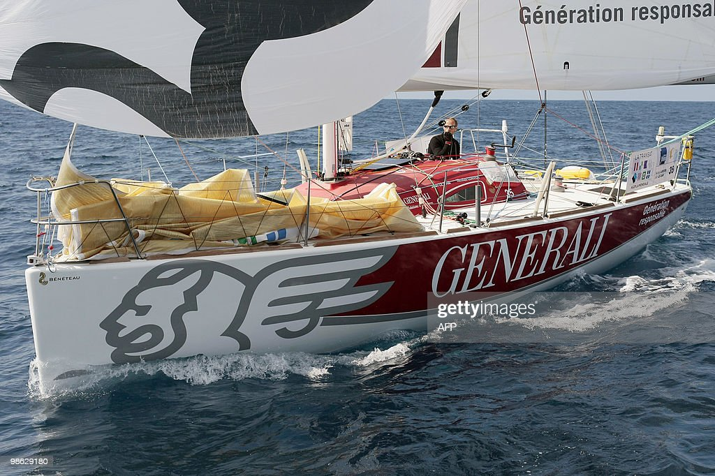 French skippers Yann Elies and Jeremie B : Nieuwsfoto's