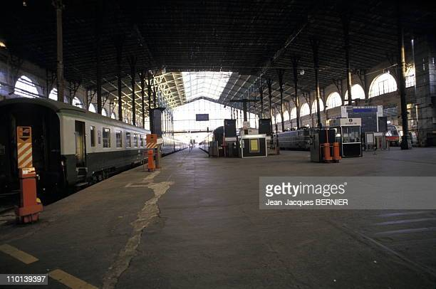 French SNCF agents on strike in Paris France on December 22 1986