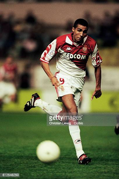 French soccer player David Trezequet playing for AS Monaco